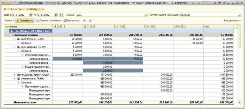 бланк реестр платежей