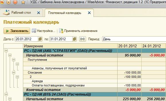 программный продукт платежный календарь